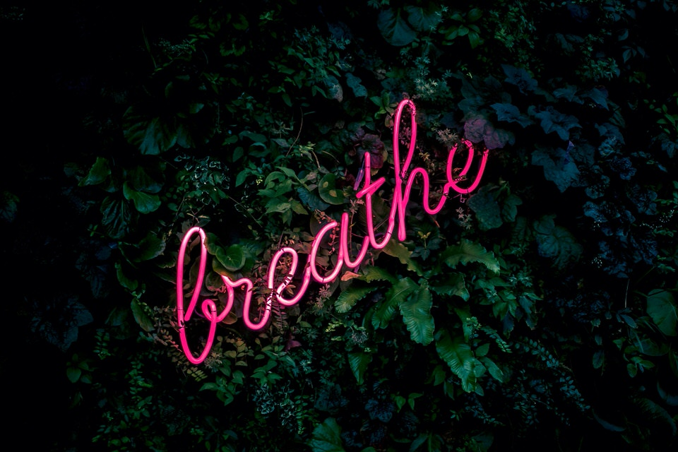 Breathe when meditating for anxiety.