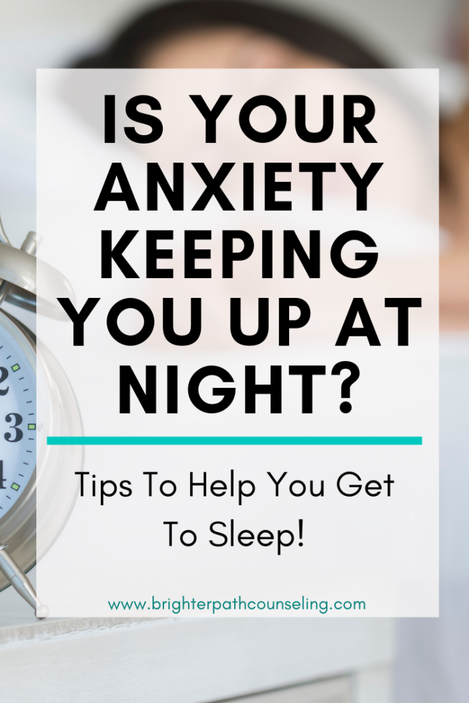 Sleep and anxiety often go together.  If anxiety is keeping you up at night, learn effective tips for how to get sleep when anxiety is keeping you awake. #sleeptips #anxietytips #sleep #relaxation