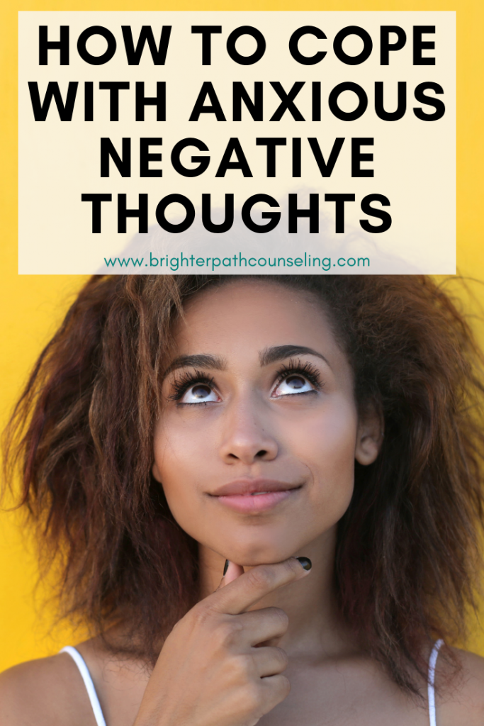 Your anxious negative thoughts are not factual and they can cause you to feel worse! Learn how to identify and challenge your anxious negative thoughts. #anxietytips #anxiousthoughts #positivethinking #mentalhealth