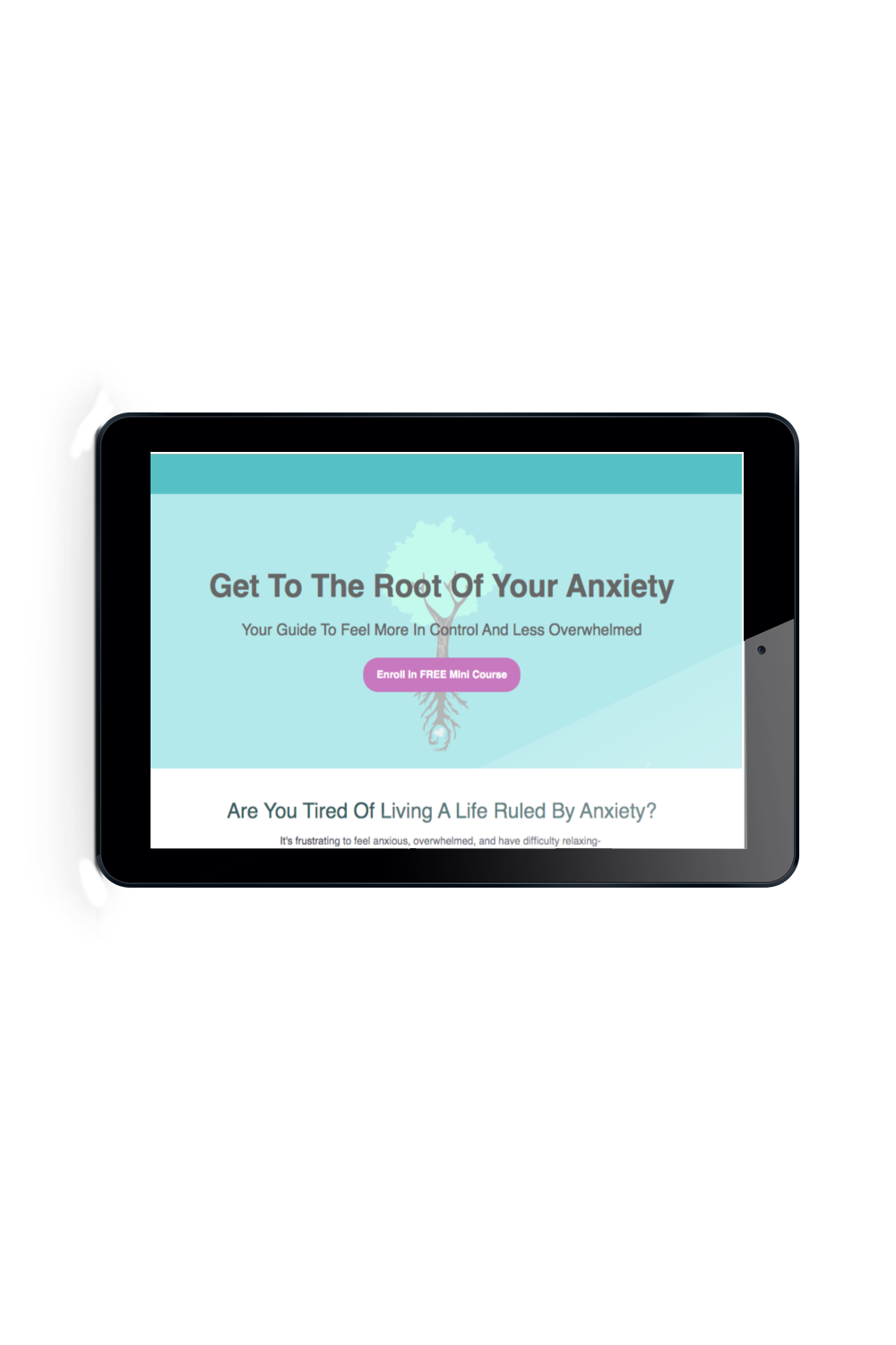 Get To The Root Of Your Anxiety Free Mini Course