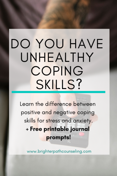Do you have unhealthy coping skills? Learn the difference between positive and negative coping skills for stress and anxiety.